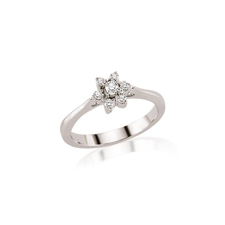 Inelul de logodna LRY195 vine cu multe surprize: aur alb de 18K, diamant de 0.23 carate si pietre dispuse in forma de floare! Mai multe detalii aici http://www.bijuteriilarosa.ro/inele-de-logodna/diamante/inel-logodna-lry195