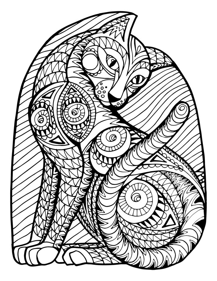 266 b sta bilderna om coloring pages cats p pinterest Coloring books for young adults