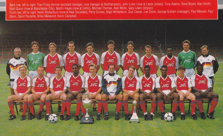 ARSENAL FOOTBALL TEAM PHOTO>1988-89 SEASON   eBay