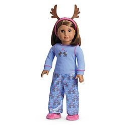 American Girl® Clothing: Reindeer PJs for Dolls - these are hysterical!  I want five pairs, one for each of my modern girls =P