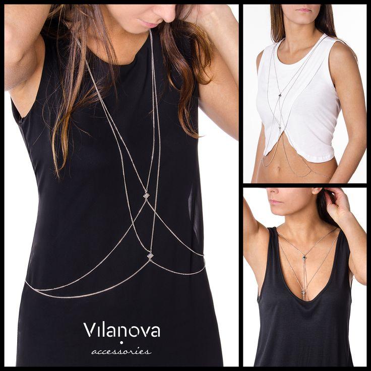 How to wear a Body Necklace - now available in Vilanova Stores  #vilanova #vilanova_accessories #vilanovaaccessories #summer #collection #accessories #newin #body #necklace #bodynecklace #howto #howtowear