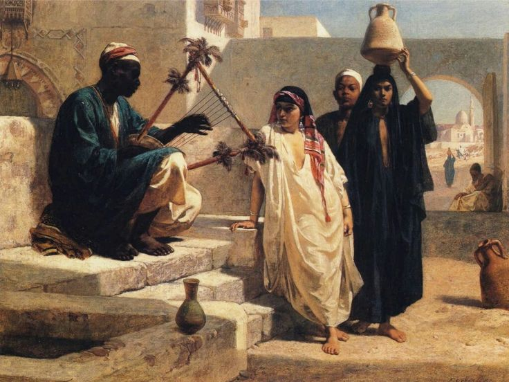 Frederick Goodall (British Painter, 1822-1904)  –  The Song of the Nubian Slave