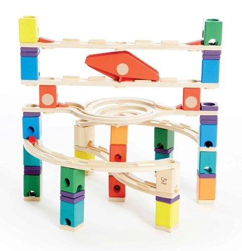 Is this the best marble run on the planet? Sure looks like it!! Beautiful colours, wonderful wooden pieces and hours of fun designing new runs over and over again. Fantastic toy that grows with the kids. First they'll have fun simply watching the marbles go down but later on they'll love the challenge of putting the marble run together on their own. Great toy to enjoy together as a family!! #EntropyWishList #PinToWin