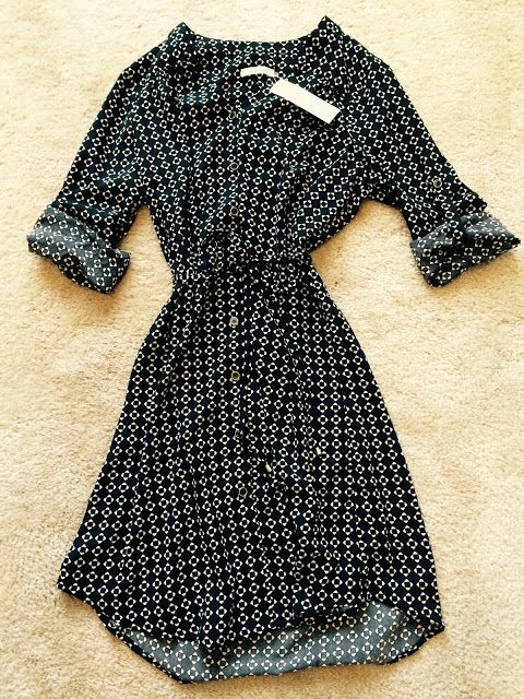 41hawthorn shirt dress Love it, black and white means I can handle the pattern! -C