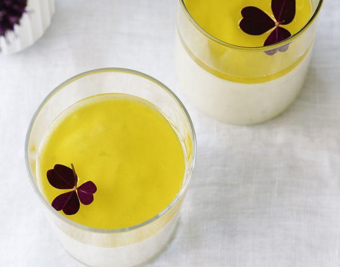 Hvid chokolade-mousse med lime og passionsfrugt - Måltid