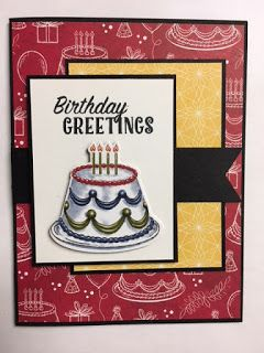My Creative Corner!: Happy Birthday Delivery, Birthday Memories, Birthday Card, Stampin' Up!, Rubber Stamping, Handmade Cards