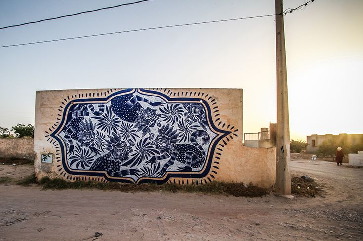 Curiot (Mexico) #streetart #erriadh #djerba #tunisia #acrylic #spray