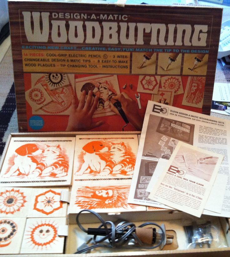 vintage wood burning kit. wood burning kit who would give this to a kid? my parents. vintage r