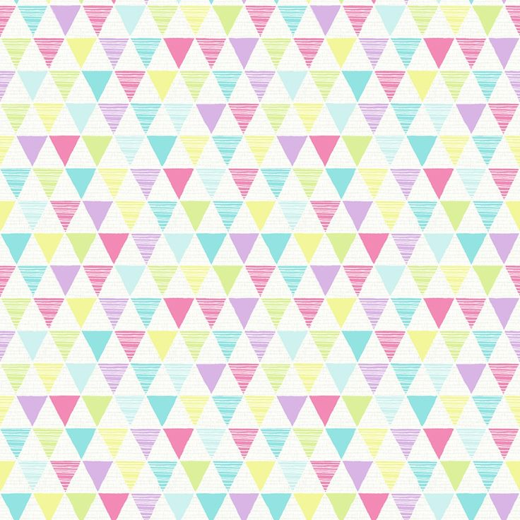 Geometric Pinks and Purple Triangles Wallpaper - 696SW005