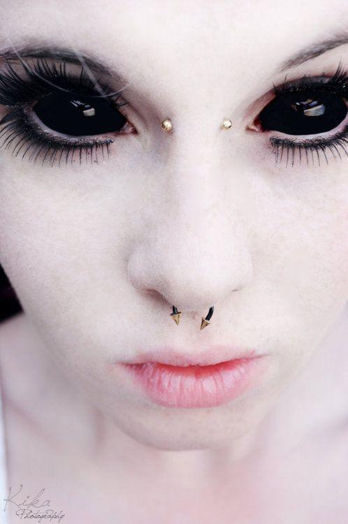 Black Sclera Contact Lenses - Sabretooth-Buy Full Eye Black Sclera Contact…