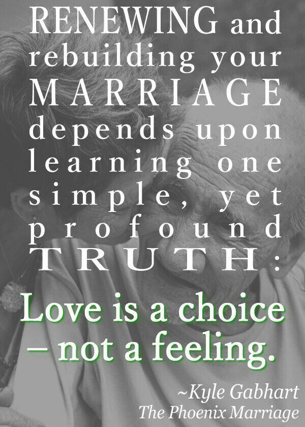 Love is a choice...