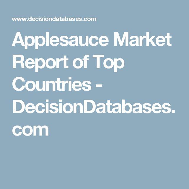 Applesauce Market Report of Top Countries - DecisionDatabases.com
