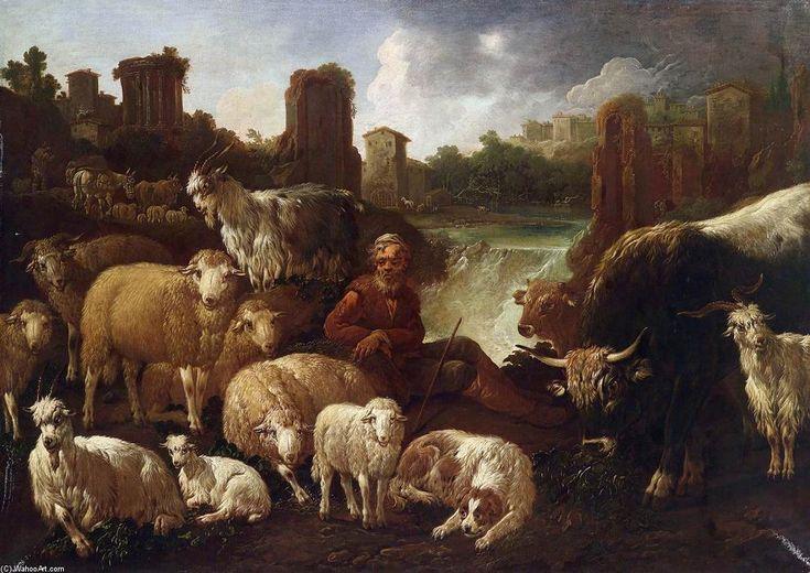 Paesaggio del Sud, olio su tela di Domenico Brandi (1683-1736, Italy)   #TuscanyAgriturismoGiratola