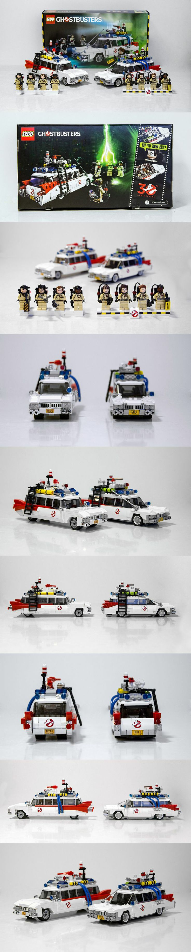 LEGO Ghostbusters comparison: CUUSOOLEGO Ideas submission on the LEFT, Official Set on the RIGHT!