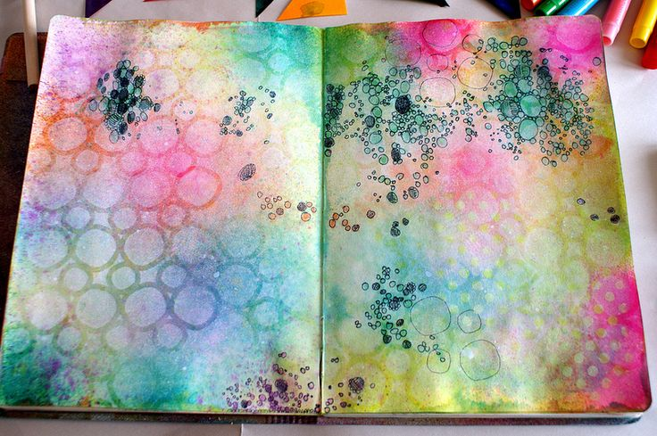 Art Journal page - base | Explore littlepigtails' photos on … | Flickr - Photo Sharing!