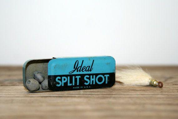 Vintage ideal split shot tin with no 7 split shot vintage for Split shot fishing