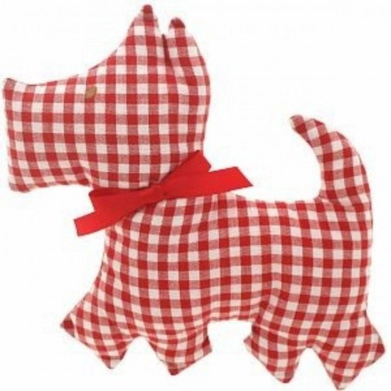 Alimrose Red Scotty Dog Rattle