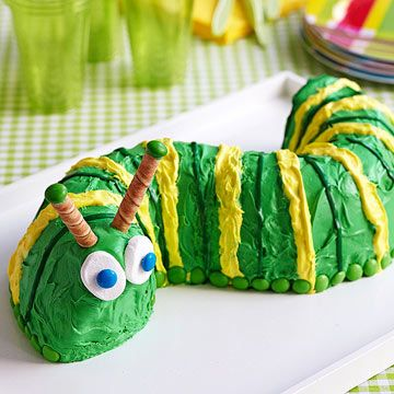 Creepy, crawly, and oh-so cool. Kids will bug out over a caterpillar #birthday cake!