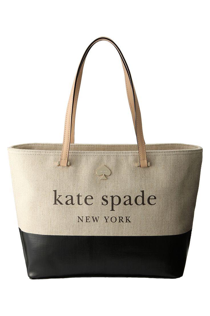 【ELLE SHOP】LOTTSTREET FRANCISトートバッグブラック柄 ケイト・スペード ニューヨーク(kate spade NEW YORK) エル・ショップ