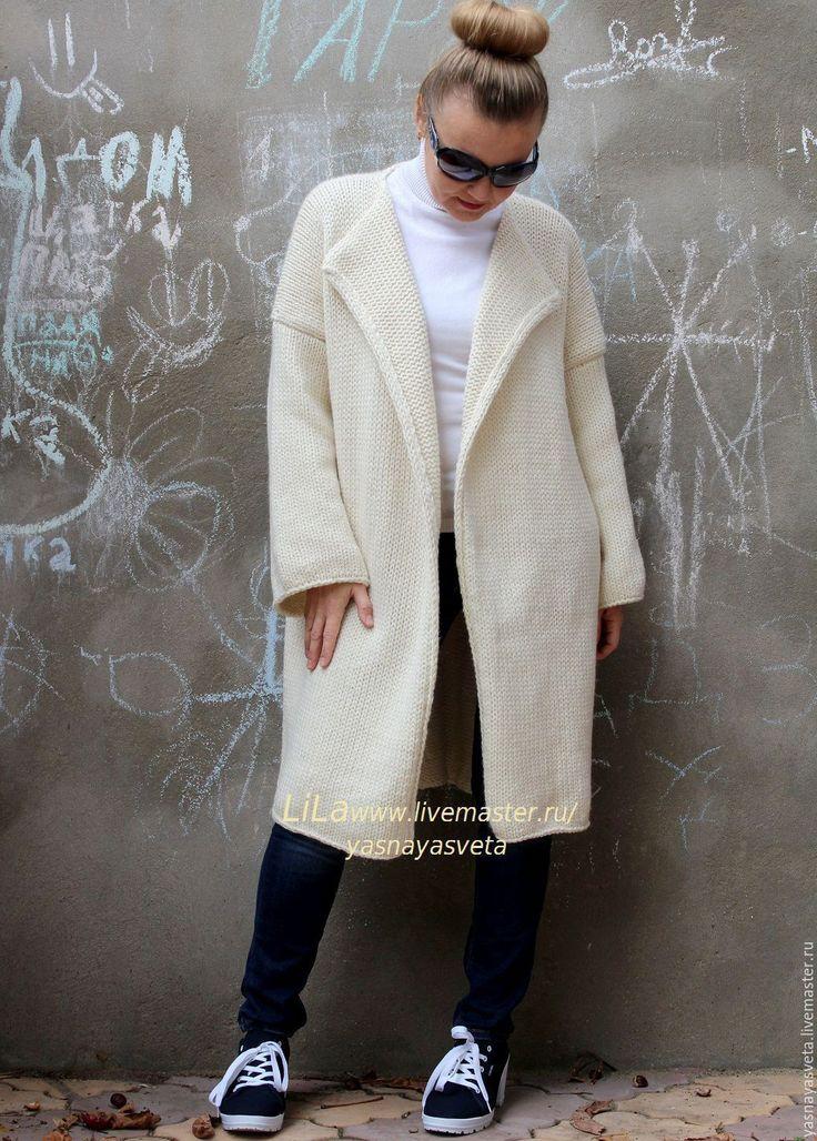 Купить Пальто вязаное Wool 100% - пальто вязаное, пальто женское, пальто спицами, пальто