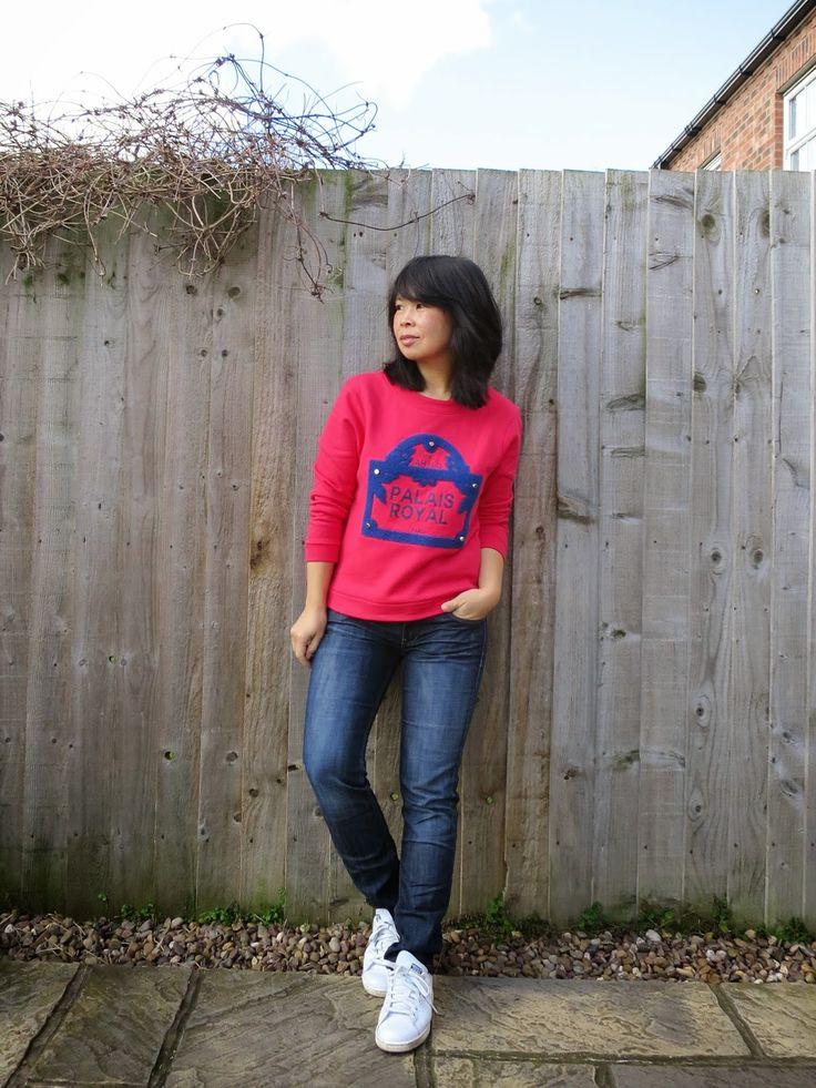 Maje Guillaume Sweatshirt H&M Jeans Adidas Stan Smiths ...