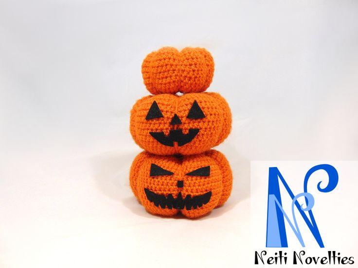 Crochet Halloween Jack-o'-lanterns :)