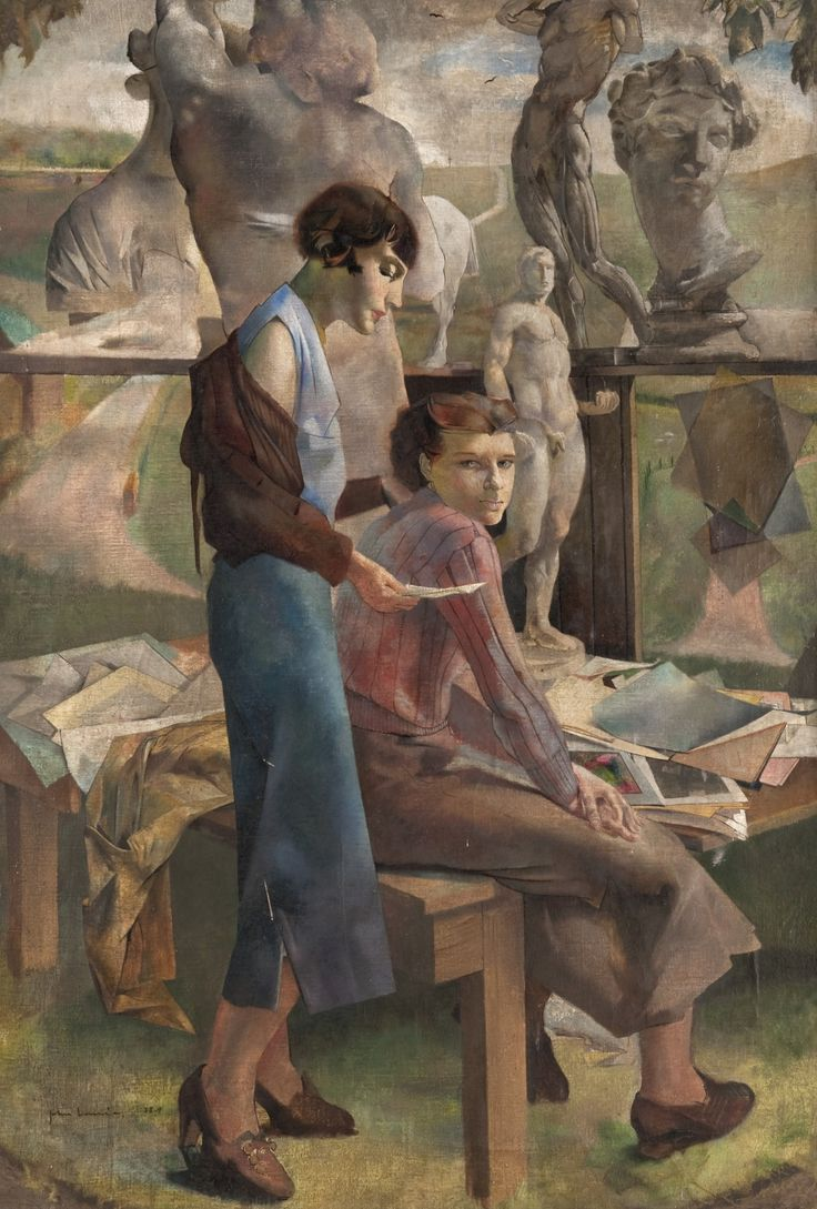 Interested and Disinterested (c.1939-1940).John Laurie (Scottish, 1916-1972).Oil on canvas.The Glasgow School of Art. Laurie attended the...