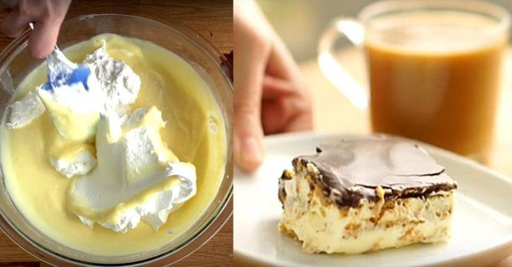 Очень простой торт «Эклер», который не нужно выпекать