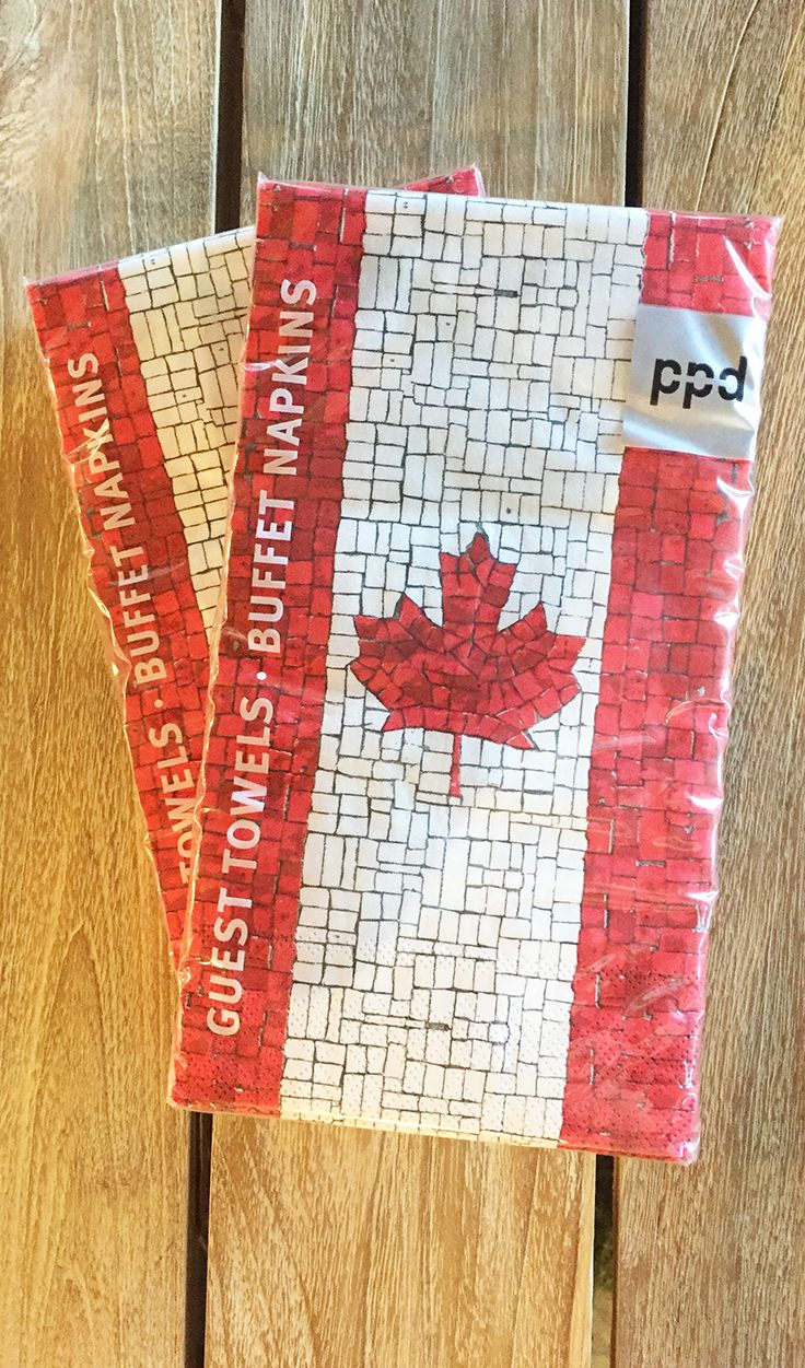 CANADA FLAG NAPKINS - Party Supplies
