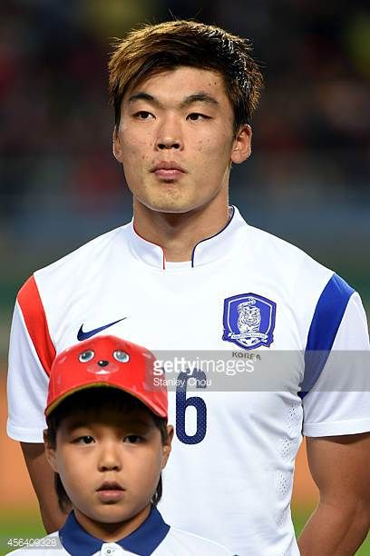 Lee Jongho of South Korea poses during the Football Mens semifinal match between South Korea and Thailand during day eleven of the 2014 Asian Games...