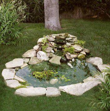 Pond kit w 3 tier cascade 3 39 x 4 39 patio lawn for Simple koi pond