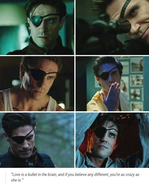 Floyd Lawton // Deadshot<<< tbh I liked him better than Will Smith only bc i felt he did a better job in getting us to love his character more.