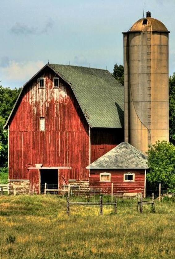 Barn & Silo...did you ever wonder why nearly every barn in Sweden is red?