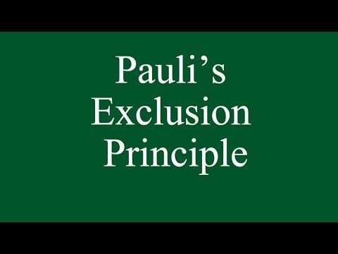 What is matter - Pauli Exclusion Principle? - YouTube