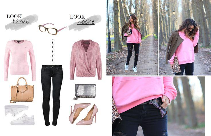 Un look en rosa y negro para combinar con nuestras gafas graduadas de la colección Lady