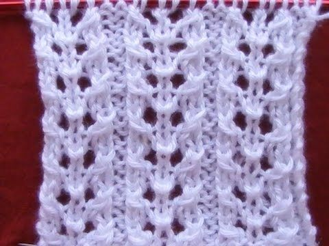 Cómo Tejer PUNTO FANTASÍA-Lace Knitting Stitches 2 Agujas (374) - YouTube