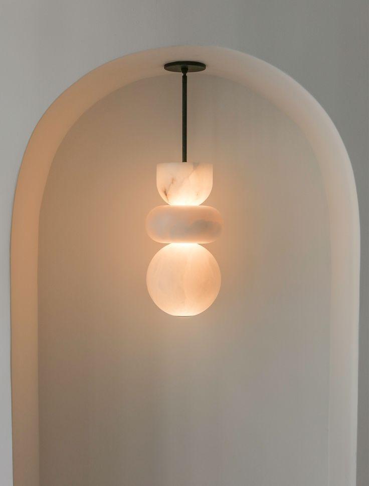 Alabaster Totem 3 In 2020 Home Lighting Design Ceiling Light