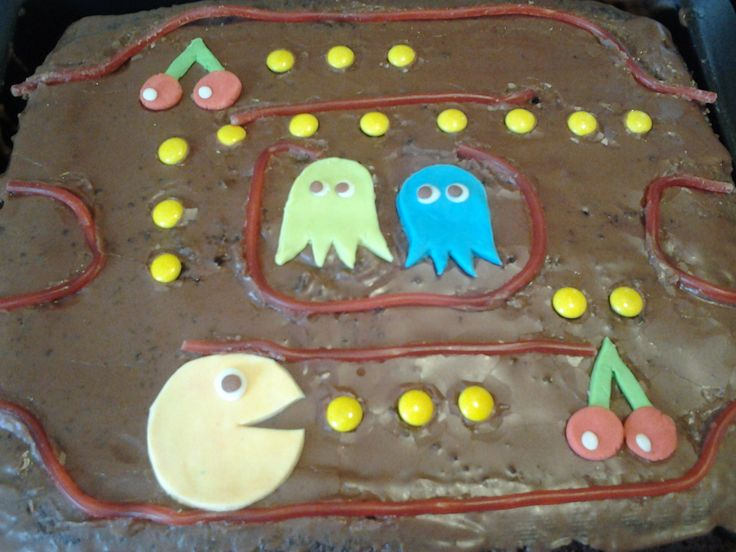 En kage jeg har lavet med Pacman