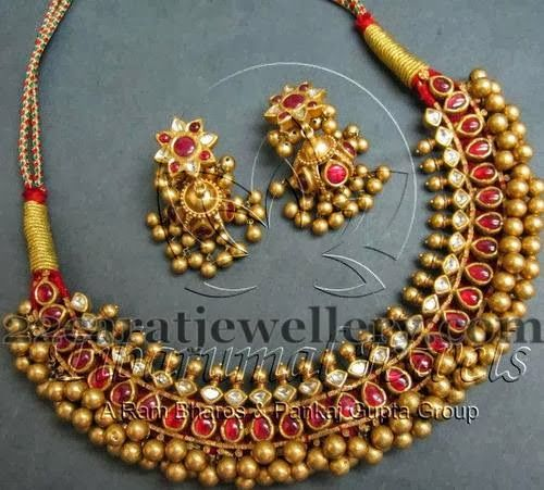 Tussi Necklace from Tibarumal Jewels | Jewellery Designs