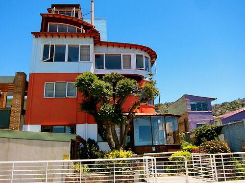 La Sebastiana, Pablo Neruda's house in Valparaiso, Chile. Photo by @Lucy Silag.