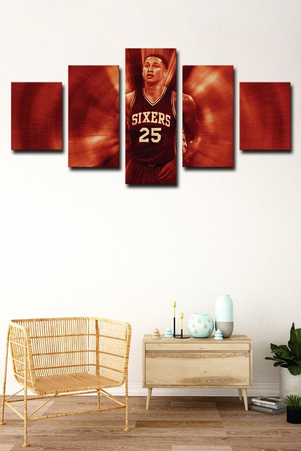 76ers Fresh Prince Guard Ben Simmons In 2020 Canvas Art Wall Decor Basketball Wall Art Art Decor