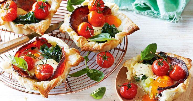 Tomato and leek brekkie tarts