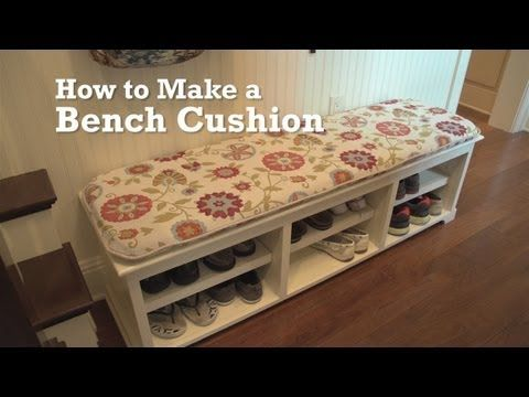 How to Make a Bench Cushion - YouTube