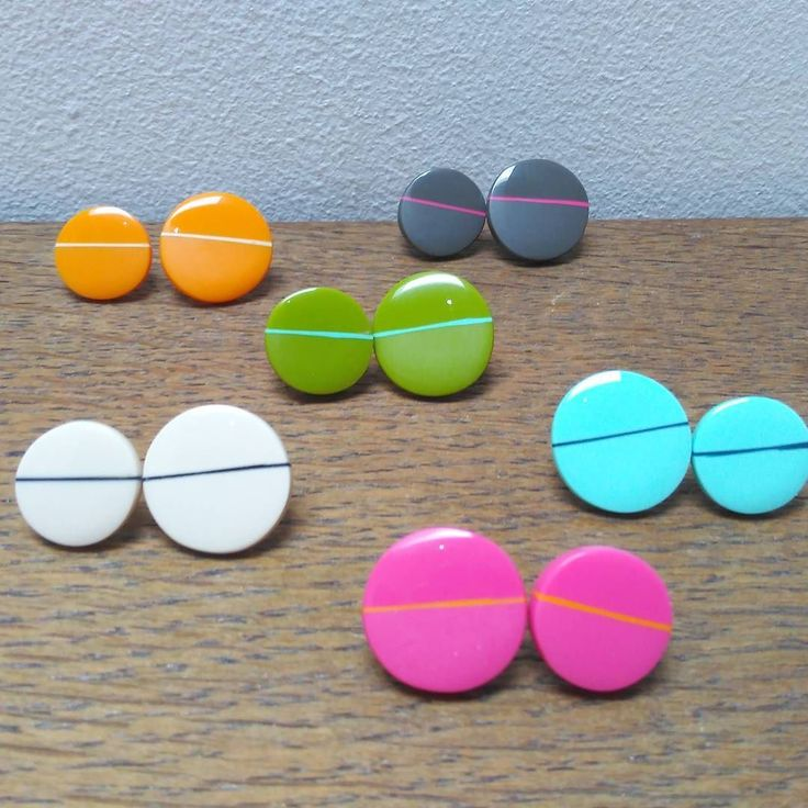 Some of my 'don't match studs' finished.  I've been making these for yonks! I like the contrast on these ones between the Matt and polished surface...X #etsy #etsyshop #etsyteam #MakerTakeOver #takeover #openstudio #dazzle #stock #studs #etsysuccess #colourburst #colours #Kaz #kazrobertson #jewellery #circles #shapes #Edinburgh