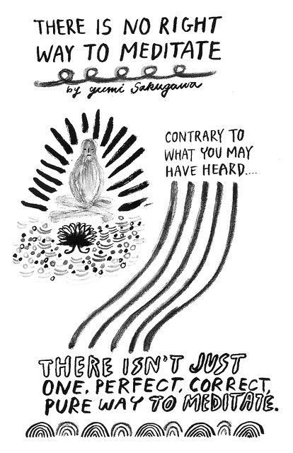 6 Magnificent Meditation Illustrations -  by Yumi Sakugawa via Imgur