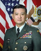 Secretary of Veterans Affairs Eric Shinseki; previously, as the 4-star Chief of Staff of the United States Army, Shinseki became the highest ranked Asian American ever in the milita