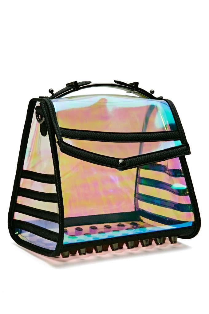 Holo At Me Bag..where was this when I needed a clear bag?