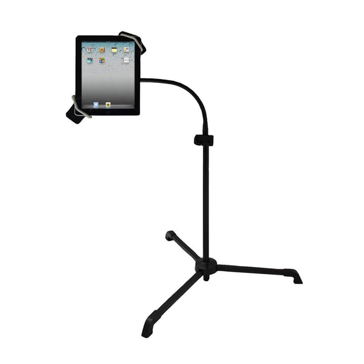 Pyle Universal Tablet PC-Android-Kindle-iPad Floor Stand For Music, Reading, Bedside. - Fits Any Tablet From 8.0 To 10.1 Inches In Size - Use With Reading Apps, Music Apps, Internet Browsing, Watching Video - Height Adjustability: 3.6 - 4.9 Feet - 360° Rotatable Flexible Metal Hose - 300° Rotatable Tablet Gripper - High Brightness LED Lamp With Dimmer - Also Holds Your iPhone/Android Phone - USB Port To Charge Your Phone with Your USB Charger - DC 5 VoltPyle Universal Tablet…