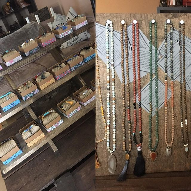 Next weekend is the Curated Summer Market that I'm honored to be a part of. Come out and see all the amazing vendors. This is a sneak peak at my mala necklaces and bracelets.  #curated #bycurated #shopcurated @bycurated