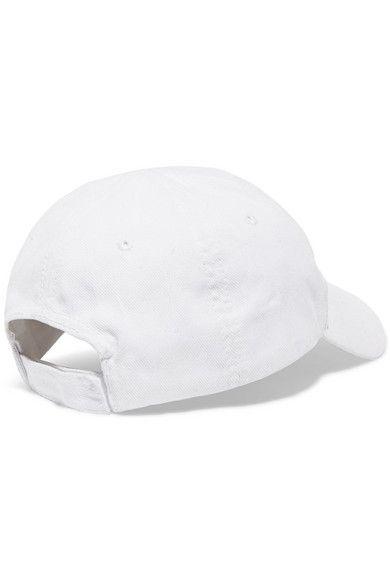 Balenciaga - Embroidered Cotton-twill Baseball Cap - White ... 570f95f85c77